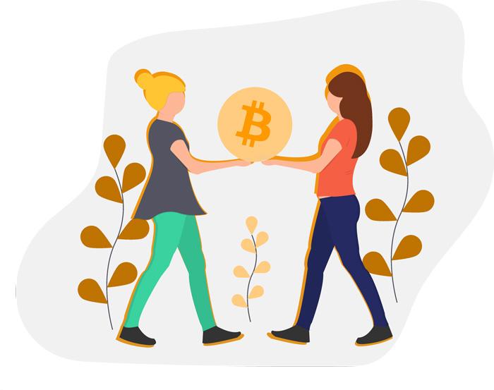 Bitcoin Geld Illustration