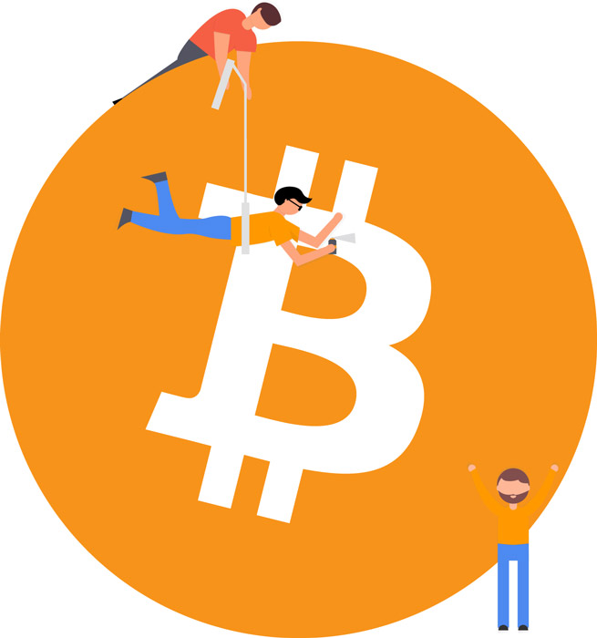 Bitcoin Investoren Illustration